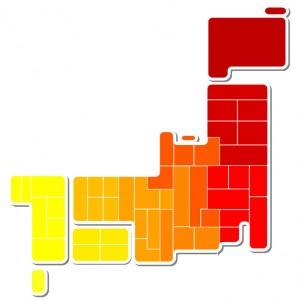 日本地図 日本 地図 秋 紅葉 もみじ