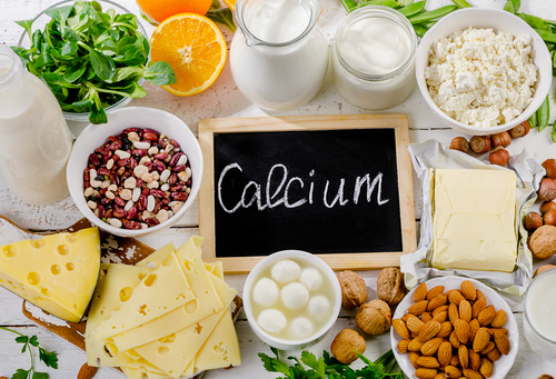 Products,Rich,In,Calcium.,Healthy,Food.,Flat,Lay
