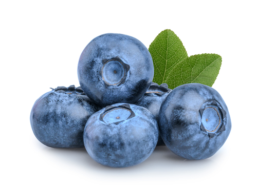 Blueberries,Isolated,On,White,Background