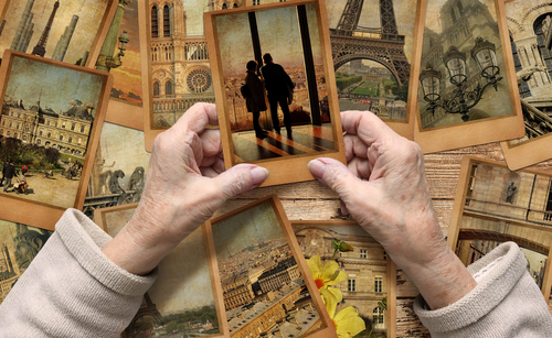 Old,Female,Hands,Hold,Old,Travel,Photo.,Vintage,Photo,Cards